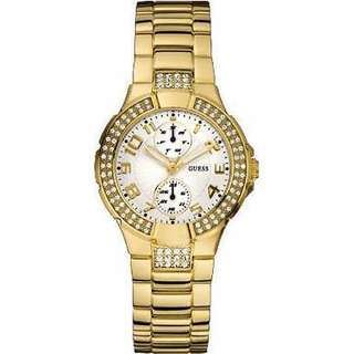Guess Ladies W15072L1 Gold Prism Crystal Dial Watch