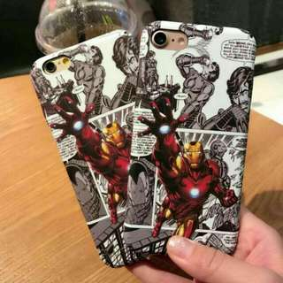 "Marvel Heroes ""Ironman"" Ultra Light Soft Shell Durable Phone Case For iPhone 6/7/8/X"