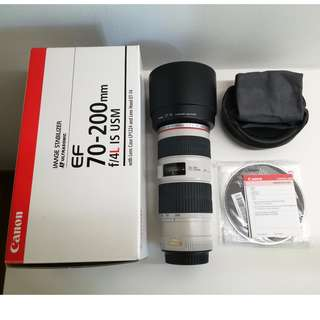 Canon EF 70-200mm F4 L IS Lens