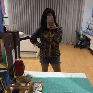 Mr Gugu Miss Go Pharaoh sweater bahan scuba