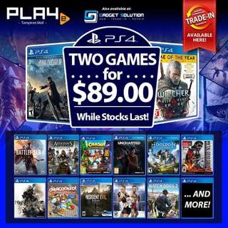Ps4 games 2 for $89