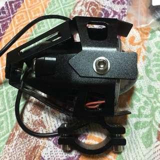 2 pcs 125W 3000LM High power Cree U5 LED motorcycle spot fog lamp