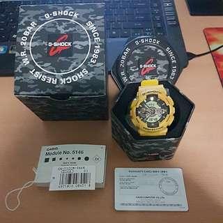Casio G-Shock Yellow Camo Watch GA-110CM-9ADR