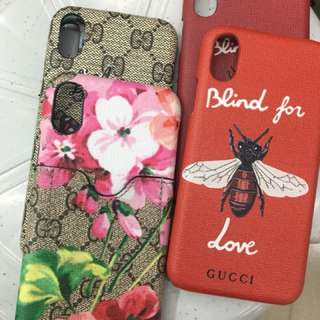 Gucci, YSL iPhone X cases