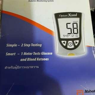 Optium xceed glucose meter tester