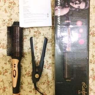 Get 2! Roll Straight Combo (catokan/blower) by Ladystar dan Mini Straightner by Haidi