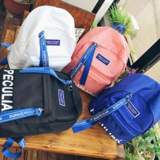 ULZZANG PECULIAR BACKPACK SCHOOL BAG FREE MY BOTTLE