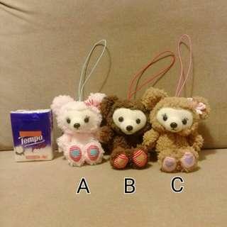 3隻$55 Amuse Classical Cute Bear 熊熊 毛公仔 日本正版景品 心心 吊飾 掛件 夾抓娃娃