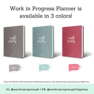 Work in Progress 2018 Planner