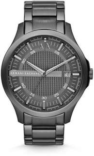 Armani Exchange Mens AX2135 Black Steel Ion Plated Watch