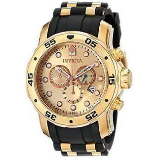Invicta 17884 Mens Pro Diver Analog Display Swiss Quartz Black