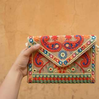 Indian style clutch hand bag - made in india