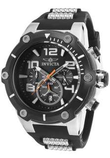 "Invicta 17202SYB Mens ""Speedway"" Stainless Steel Watch Black"
