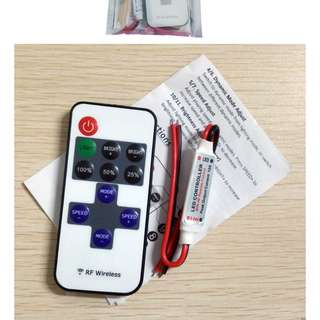 RF Wireless Mini Remote Dimmer Controllers/LED Controller 12A 5V-24V LED