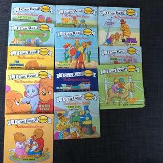 Berenstain Bears. I Can Read Phonics Books. Beginner English Learning Books.