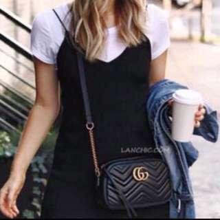🚚 全新正品免稅代購Gucci marmont 山型紋 相機包 側背包
