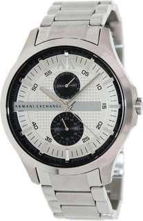 Armani Exchange Mens AX2117 Silver Stainless-Steel Quartz Watch