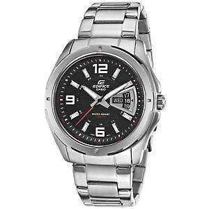 Casio Mens Edifice EF-129D-1av Stainless-Steel Quartz Watch