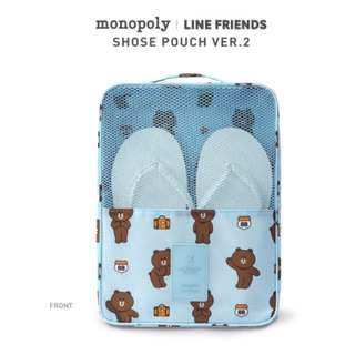Line Friends X Monopoly Travel Series Shoe Bag Version.2 (Choco/Brown/Sally/Cony)