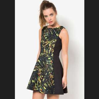 Neo Prenne Panel Fit And Flare Dress