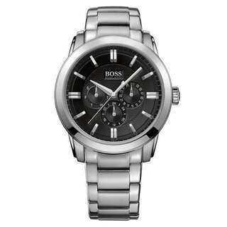 Hugo Boss 1512893 Mens Multi-Function Black Dial Stainless Steel
