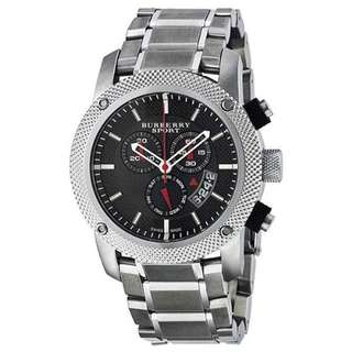 Burberry BU7702 Heritage Black Mens Chronograph Steel Chronograph