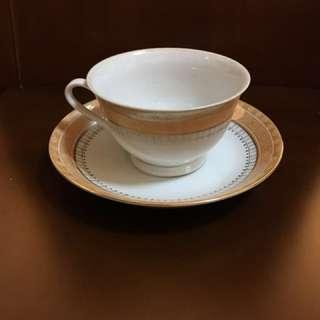 全新80年代中國景德鎮茶杯連茶碟一套,太子地鐵站交收