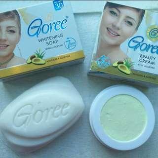 Authentic Goree set soap and cream