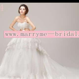 Princes long tail wedding dress