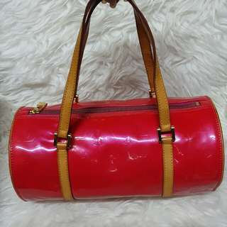 Pre loved authentic LV Papillon Vernis red