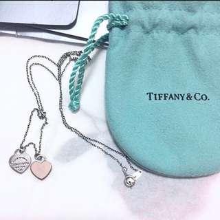Tiffany & co. Necklace 925 純銀頸鍊 粉紅心心