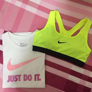 Just do it短袖+Nike運動內衣不拆賣