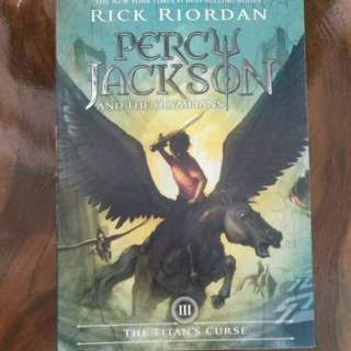 Book 3: Percy Jackson and the Olympians.  The Titan's Curse