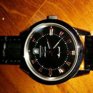 Longines Automatic black dial with date
