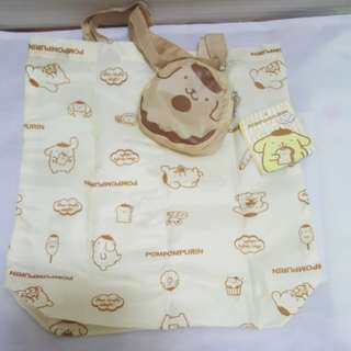 Pompom Purin Small Eco Bag