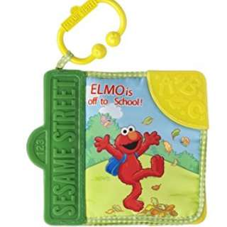 Elmo Goes to School teething cloth book for babies