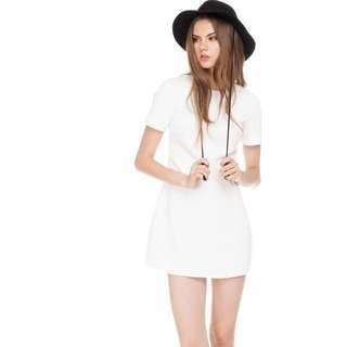 The Closet Lover Sunkiss Denim Dress In White BNWT