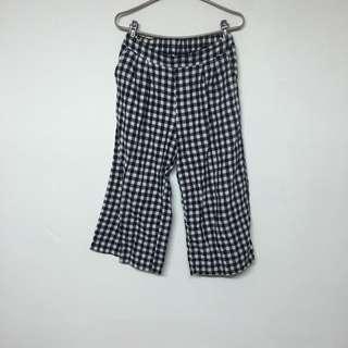 🚚 格子 棉寬褲