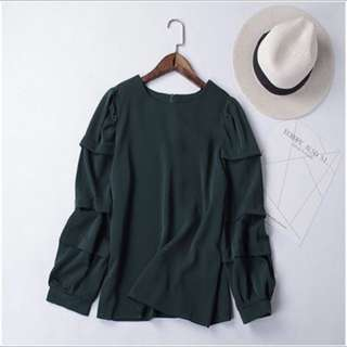 Korea Style layers bell sleeves blouse