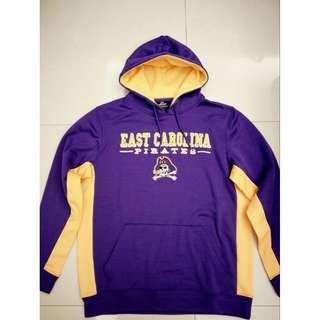 NCAA 東卡羅來納East Carolina Pirates Colosseum Hoodie 連帽T 紫黃 L