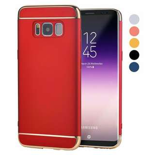 Samsung Case 3 in 1 Coated Non Slip Matte Surface with Electroplate Frame