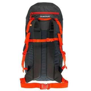 ORIGINAL QUECHUA ARPENAZ 40 LITRES BACKPACK - BLACK/ORANGE I Travel Backpack I Hiking backPack