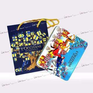 歐舒丹 L'Occitane 護手霜 護手乳 送禮 攜帶方便 5支30ml 聖誕紀念 禮盒裝 付提袋