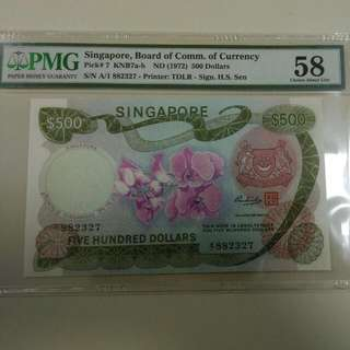 Orchid $500 PMG 58
