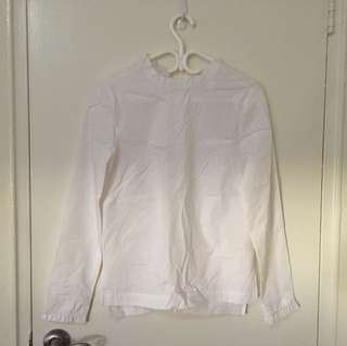 White ruffle dress shirt