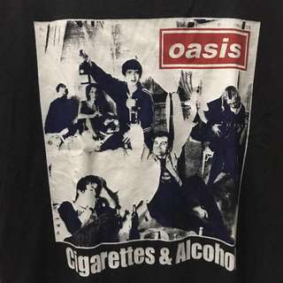 Official Oasis cigarettes & alcohol tshirt