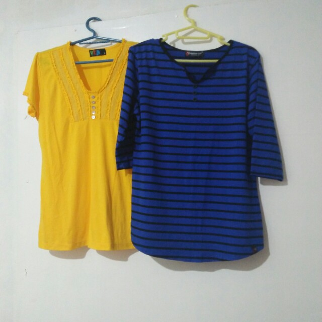 3/4 blouse + tshirt