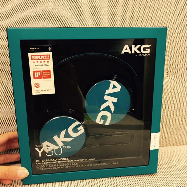 ❗️5折❗️AKG Y系列ON-EAR通話耳機 Y50 藍色