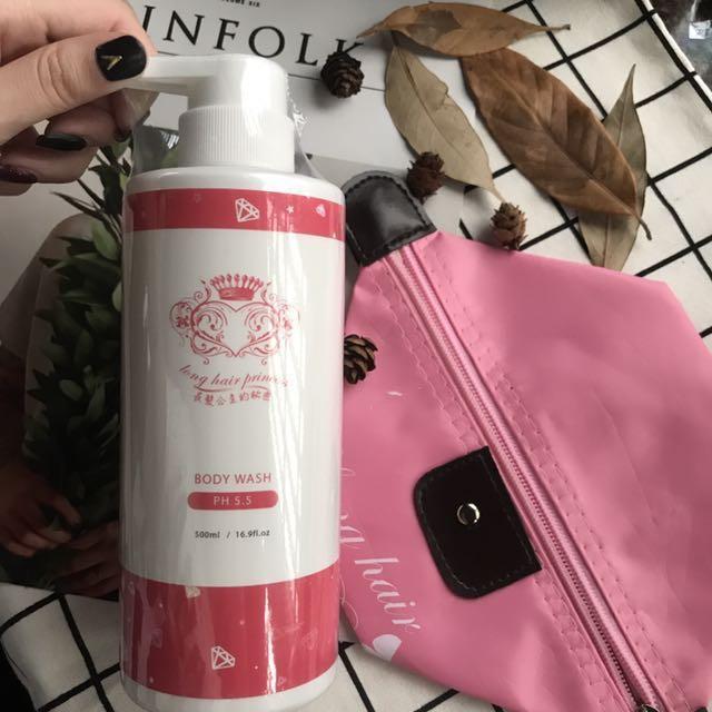 全新|長髮公主的秘密沐浴乳+化妝包
