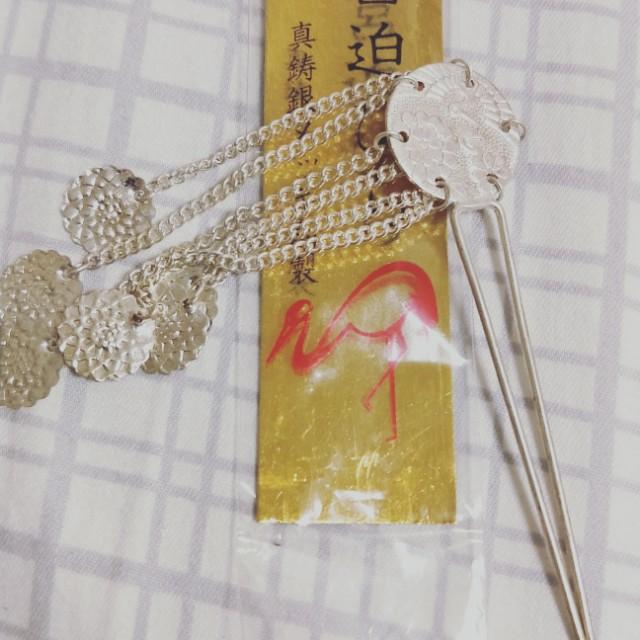 純銀兒童髮簪,純銀